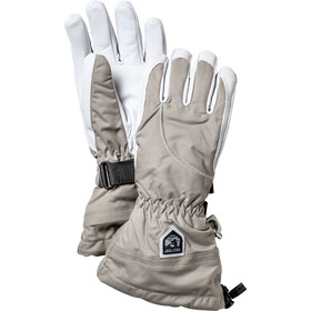 Hestra Heli Ski 5 Finger Gloves Damen khaki/off-white